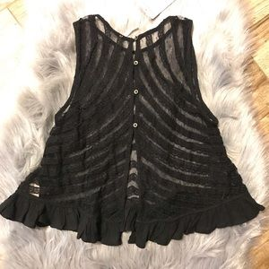 9293f2880ef Free People Tops - Free People She s a Doll Sheer Lace Crop Top XS